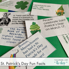 saint patrick's day fun facts on green paper