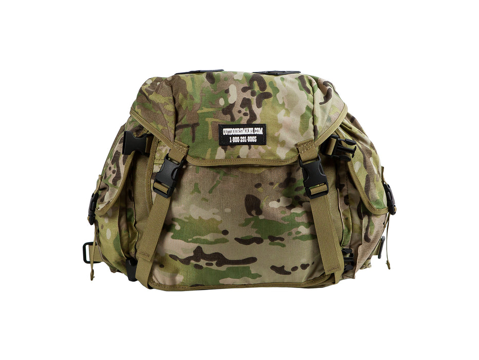 This is the Outdoorsmans Butte 25 Hip Pack pictured in Multicam camouflage. It is an oversized fanny pack with a shoulder harness (not pictured).