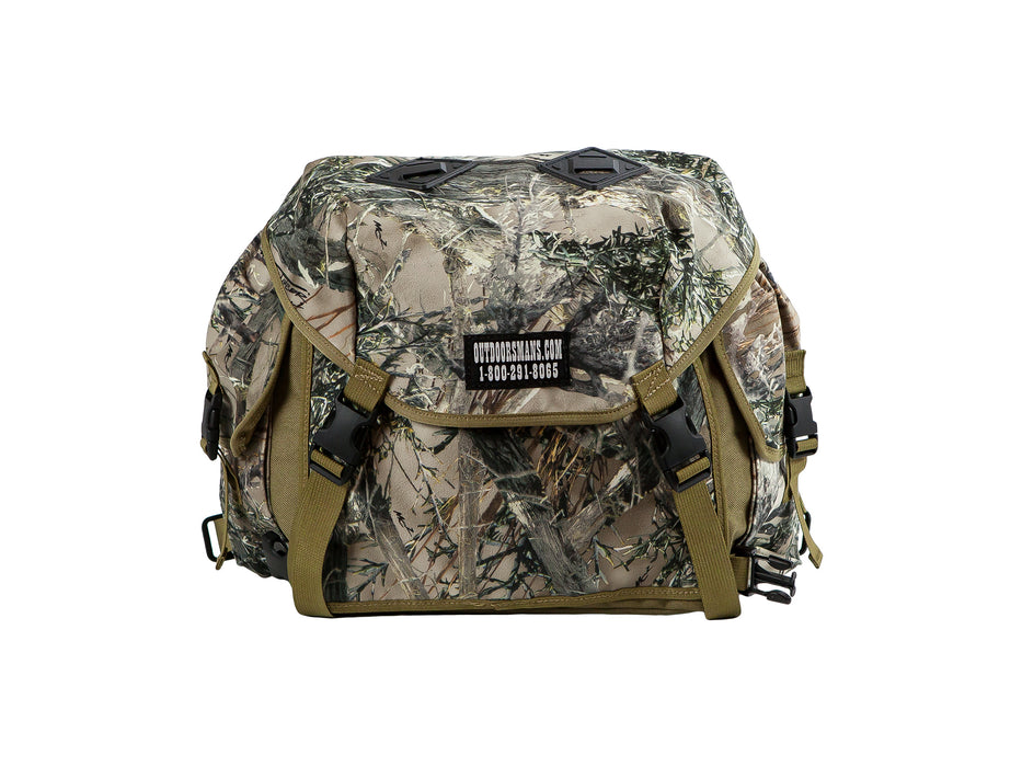 This is the Outdoorsmans Butte 25 Hip Pack pictured in True Timber camouflage. It is an oversized fanny pack with a shoulder harness (not pictured).