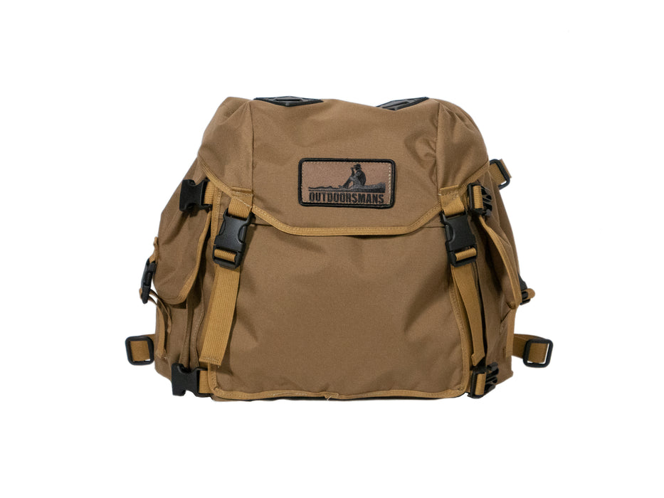 This is the Outdoorsmans Butte 25 Hip Pack pictured in Coyote Brown. It is an oversized fanny pack with a shoulder harness (not pictured).