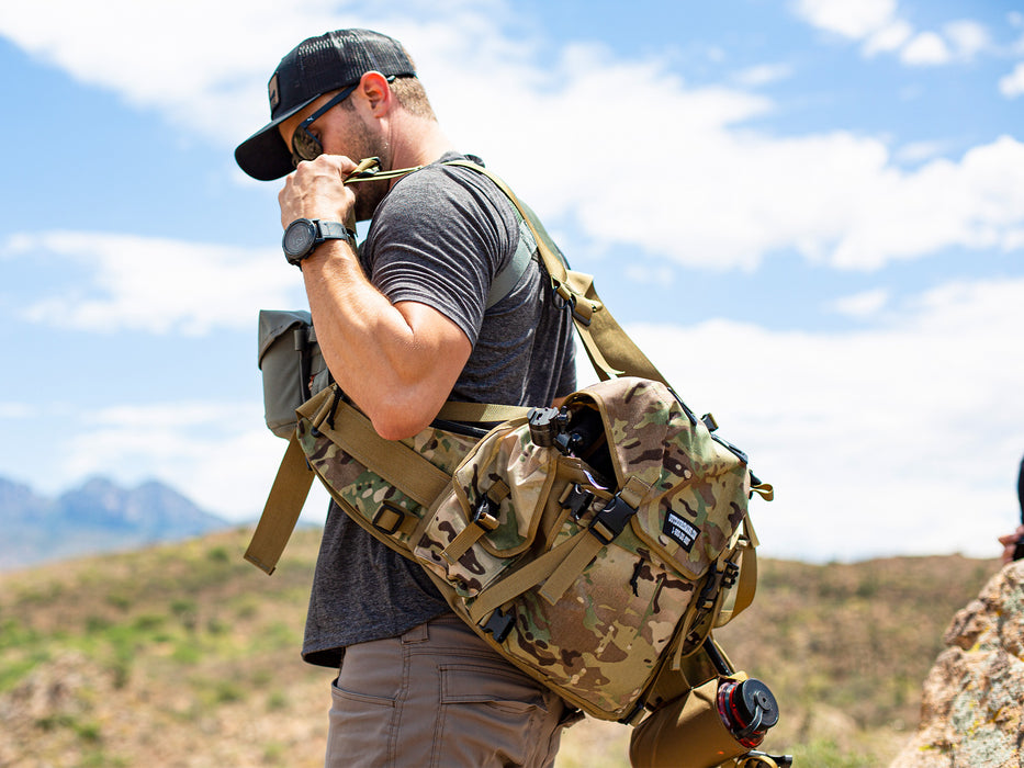 The Outdoorsmans H2O Holster is the perfect addition to the Butte 25 Hip Pack for easily accessible hydration wherever your hunt takes you.