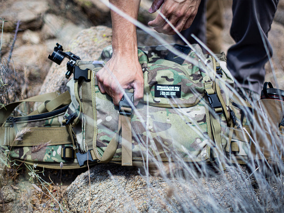 The Butte 25 Hip Pack is the perfect size for the Outdoorsmans Compact Tripod and Micro Pan Head.