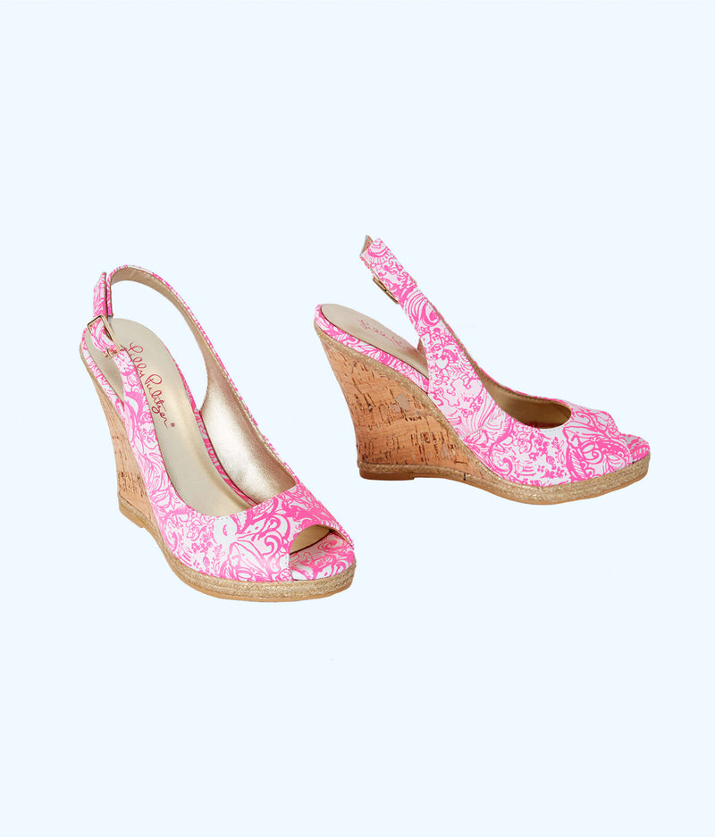 "Lilly Pulitzer ""Krisie"" Wedge, Pink Tropics"