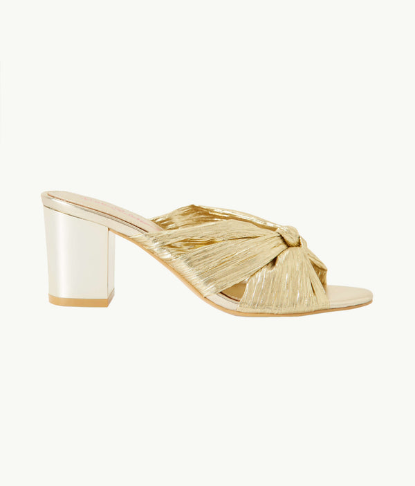 "Lilly Pulitzer ""Sheena"" Slide Sandal, Gold Metallic"