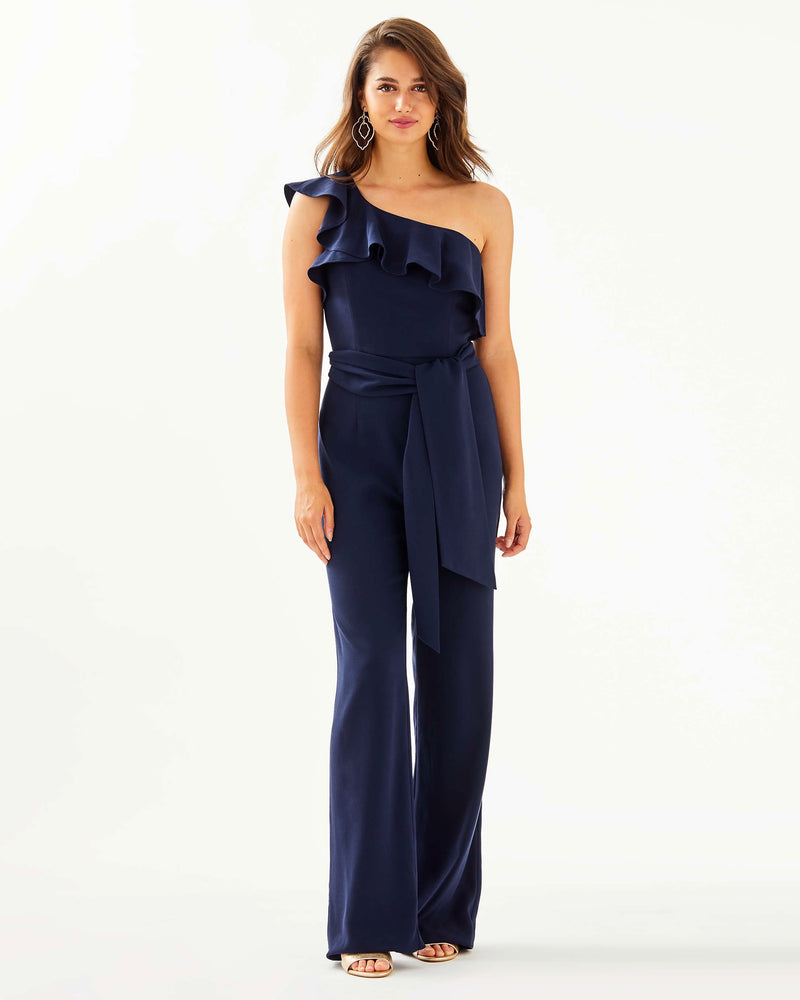 "Lilly Pulitzer ""LyraOne-Shoulder Jumpsuit"