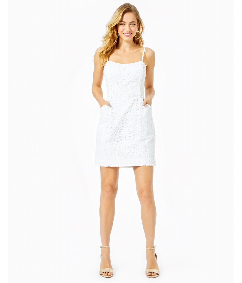 "Lilly Pulitzer ""Shelli"" Dress, Resort White Large Petal Eyelet"