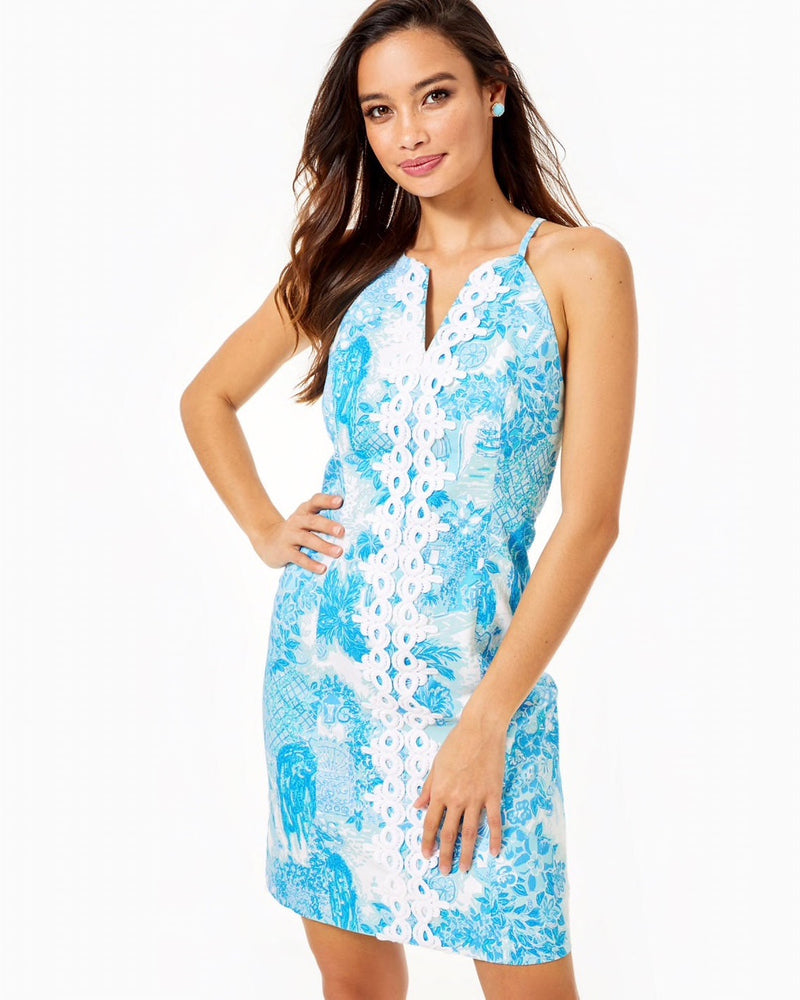 "Lilly Pulitzer ""Pearl"" Stretch Shift Dress, Multi Toile Me About It"