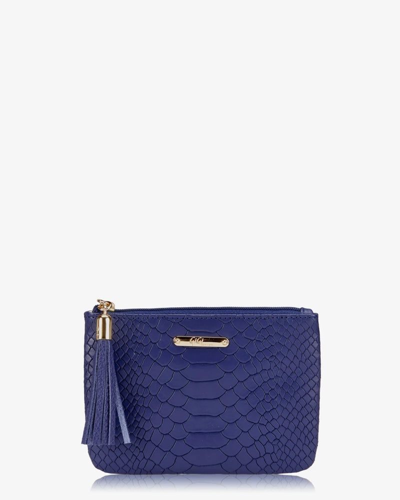 Gigi New York Python Mini Zip Pouch