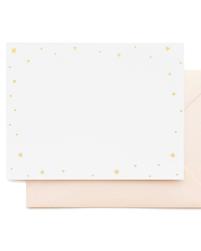 Sugar Paper Starry Hearts Note Set