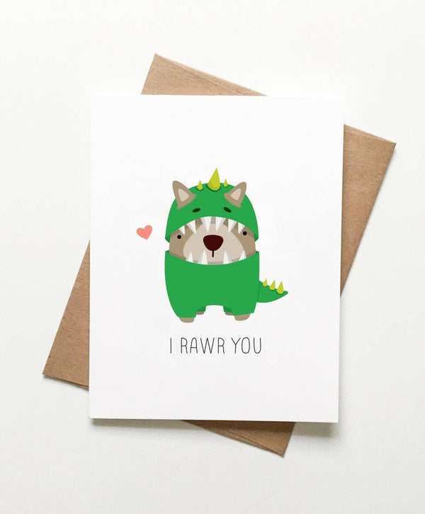 Le Trango Studios - Corgi I Rawr You Card
