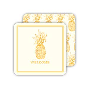 RosanneBeck Collections - Welcome Yellow Pineapple Coaster