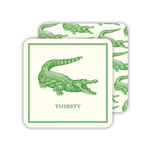 RosanneBeck Collections - Thirsty Green Alligator Coaster