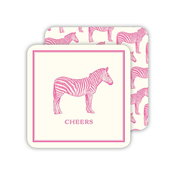 RosanneBeck Collections - Cheers Pink Zebra Coaster