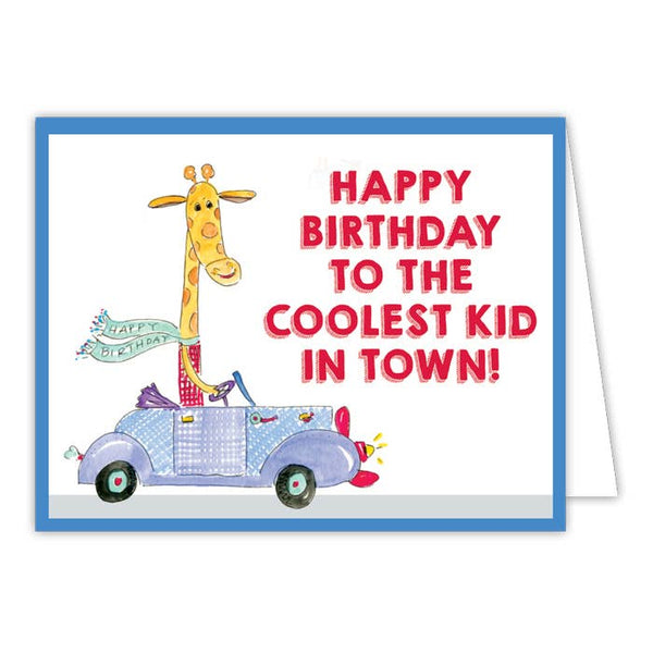 RosanneBeck Collections - Happy Birthday to the Coolest Kid in Town Small Folded Greeting Card