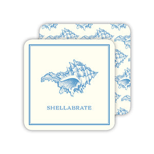 RosanneBeck Collections - Shellabrate Blue Shell Coaster