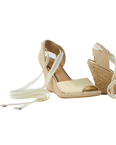 "Lilly Pulitzer ""Alyssa"" Wedge, Gold Metallic"