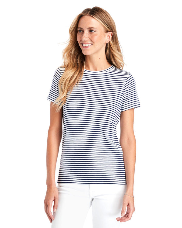 Vineyard Vines Striped Simple Crewneck Tee