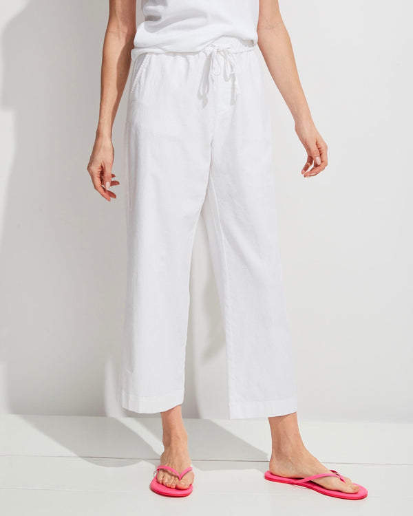 Vineyard Vines Wide Leg Linen Pull On Pant