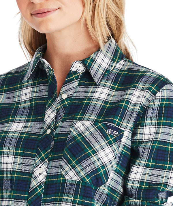 Vineyard Vines Pine Plaid Flannel Relaxed Button-Down Shirt