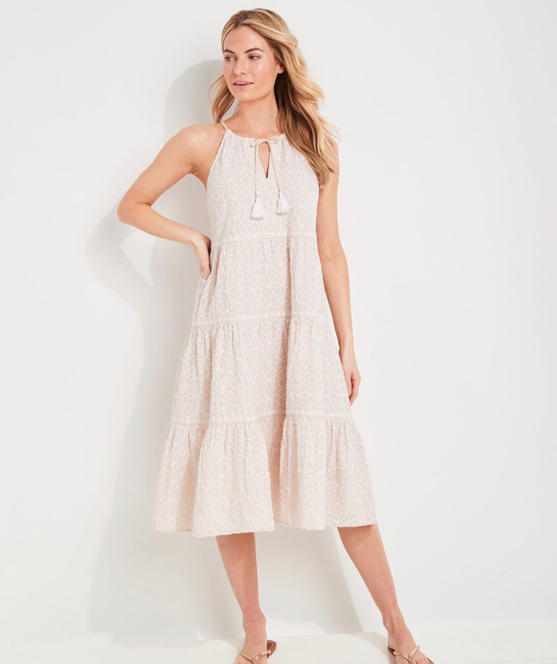Vineyard Vines Day Lily Trapeze Tiered Dress