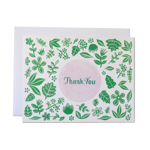 Forage Paper Co. - Green and Pink Florals