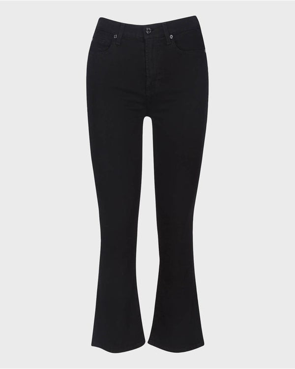7FAM  Coated High Waisted Slim Kick