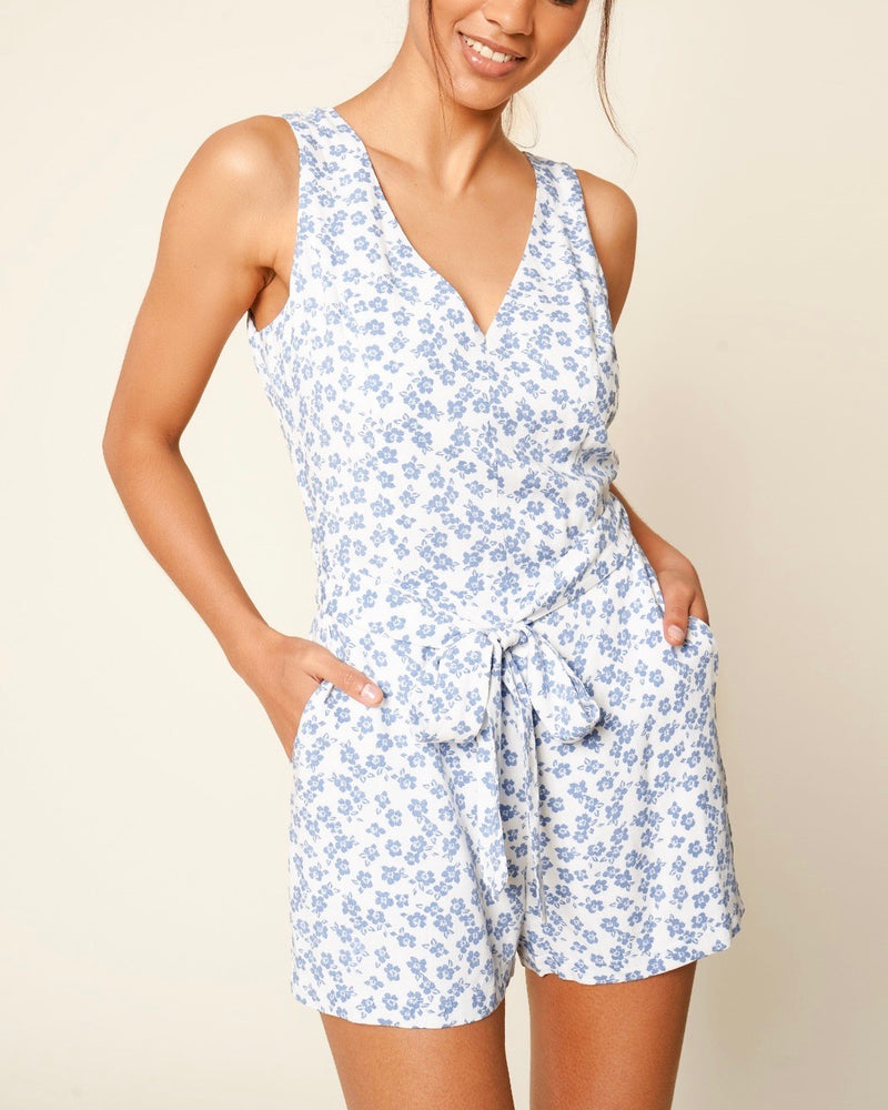 Blue Wildflower Romper