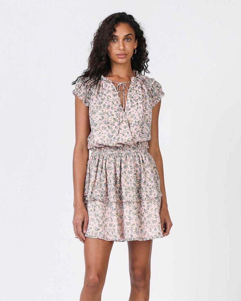 Current Air Blush Floral Mini-Dress