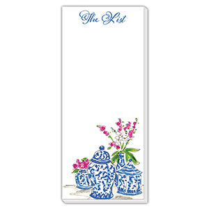 RosanneBeck Collections - Blue Pots Skinny List Pad