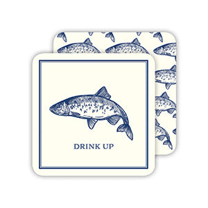 RosanneBeck Collections - Drink Up Blue Fish Coaster