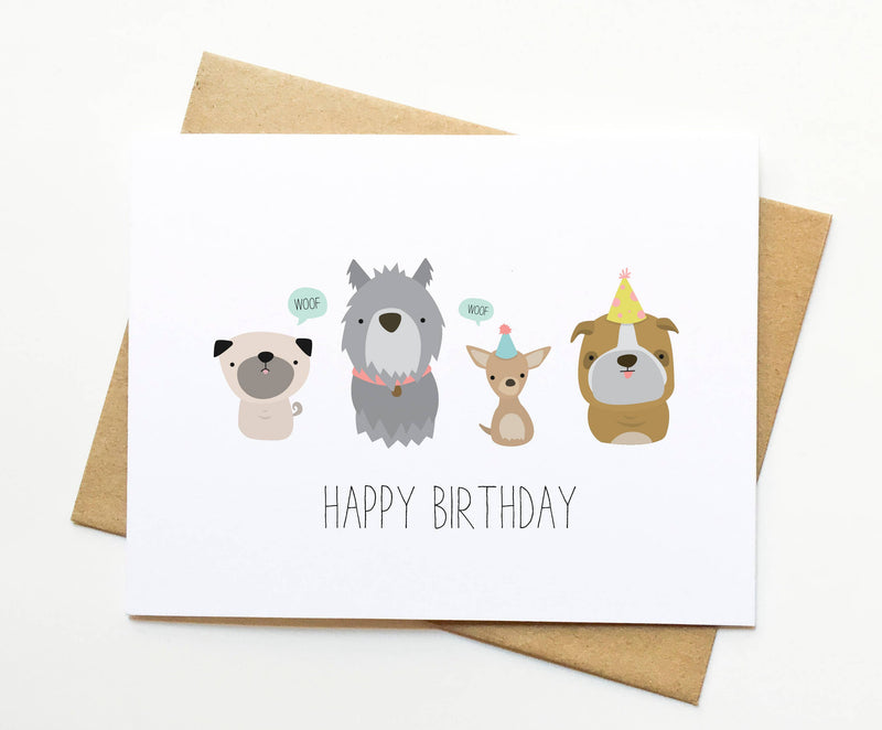 Le Trango Studios - Dog Birthday Card