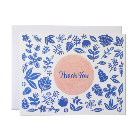 Forage Paper Co. - Blue and Peach Florals