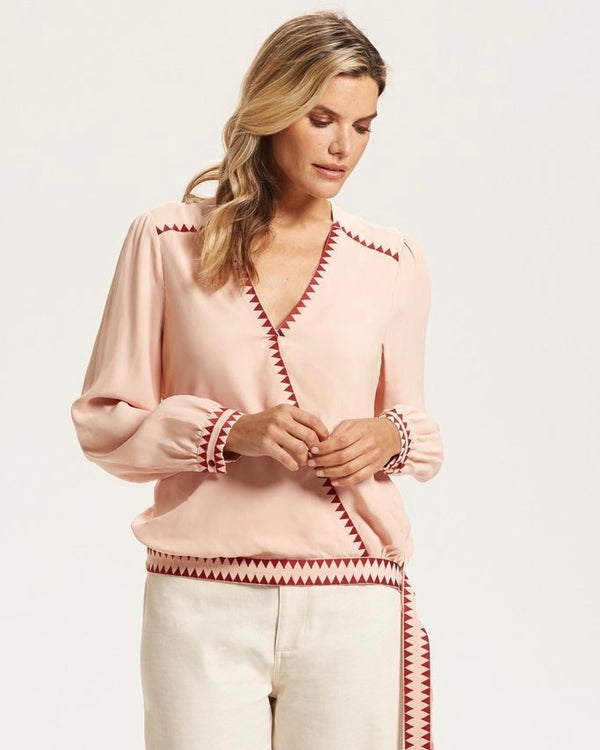 Marie Oliver Wrap Blouse