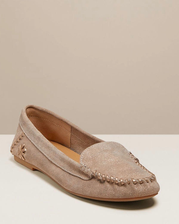 Jack Rogers Platinum Leather Moccasin