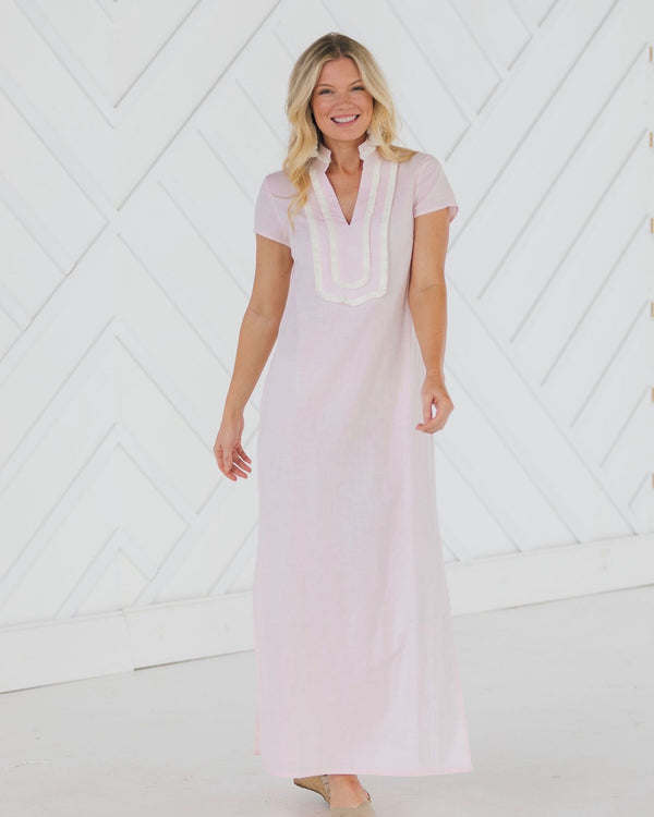 Sail To Sable Short Sleeve Maxi Tunic