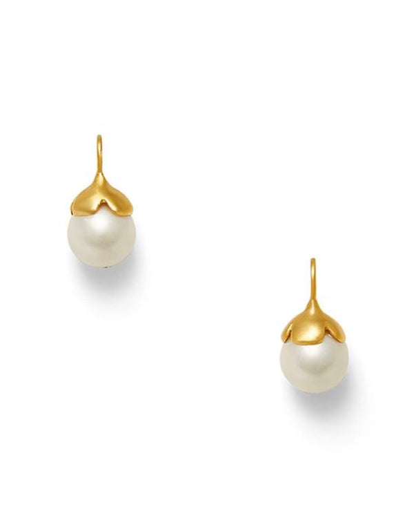 Catherine Canino Flower Petal Pearl Earrings
