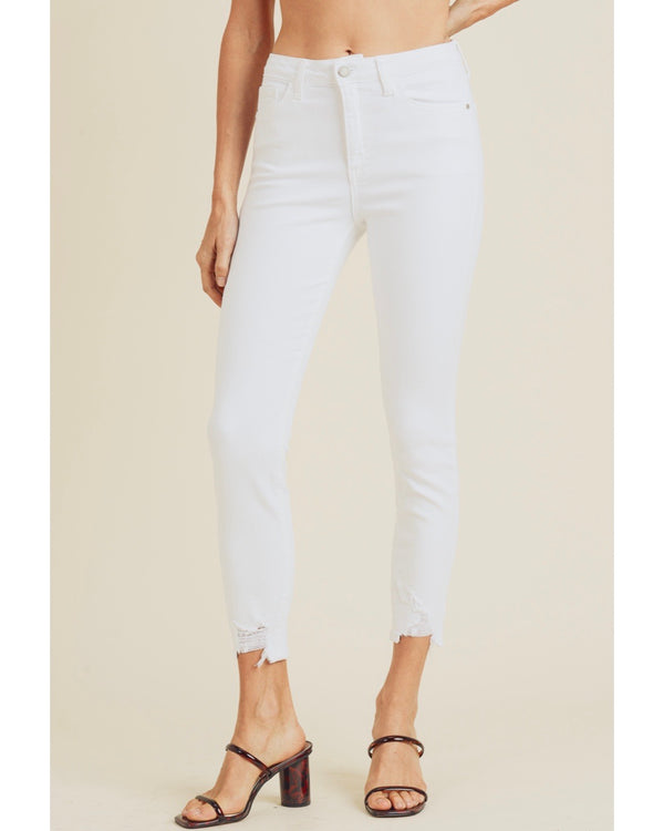 Clean White Skinny Hem Bite