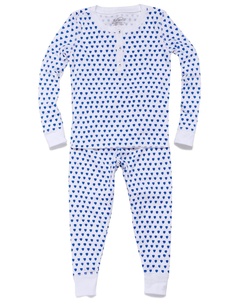 Roberta Roller Rabbit Blue Hearts Kids Pajamas