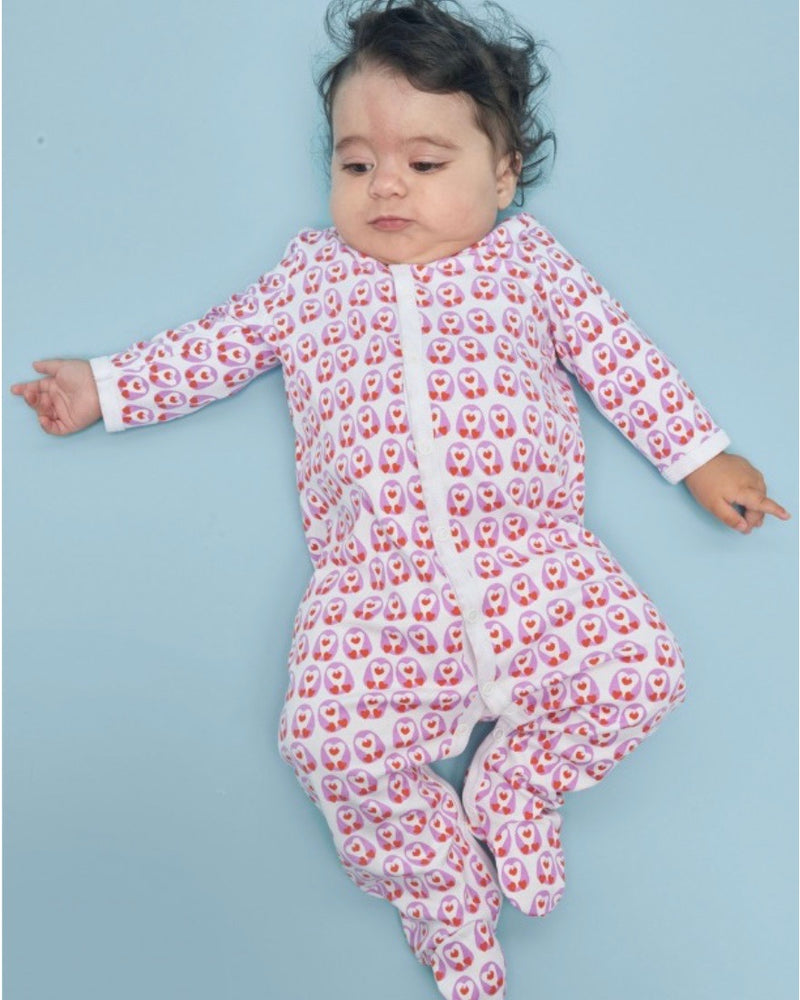 Roberta Roller Rabbit Love Birds Infant Footie Pajamas