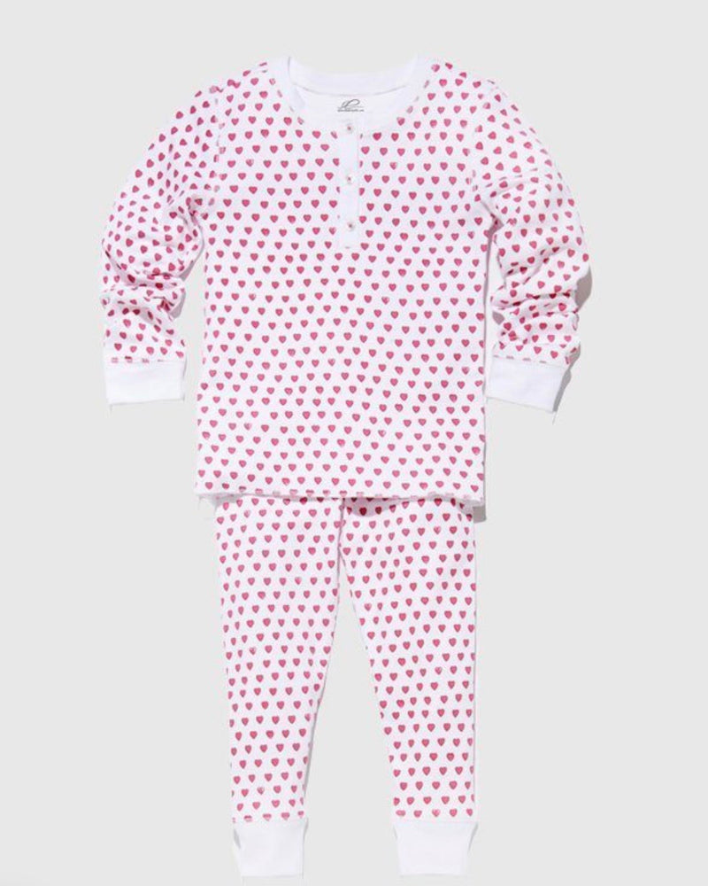 Roberta Roller Rabbit Pink Hearts Kids Pajamas