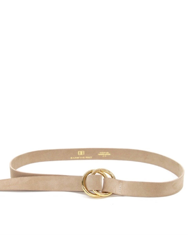 B-Low the Belt Skinny Suede Belt