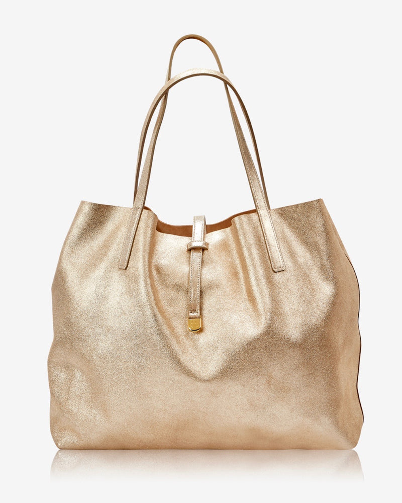 Gigi New York Reversible Camel Suede Tote