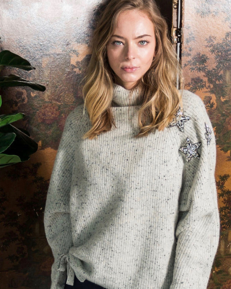 Never a Wallflower Seeing Stars Cashmere Sweater