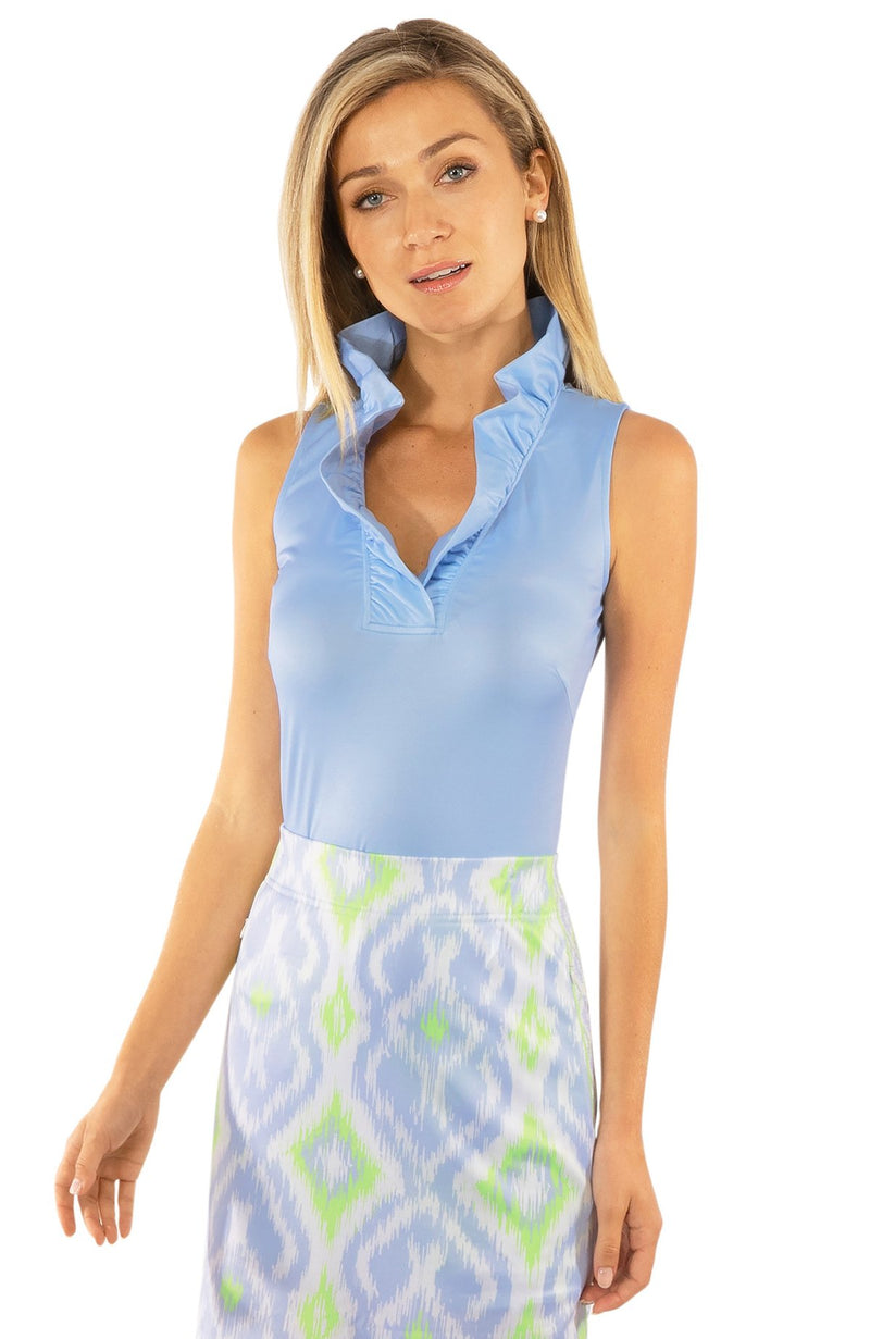 Gretchen Scott Ruffneck Sleeveless Top