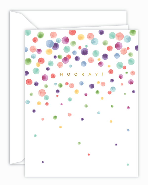 Cricket Printing - Hooray! Rainbow Confetti Card