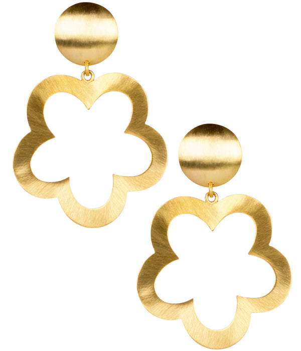 "Lisi Lerch ""Bobbi"" Brushed Gold Earring"