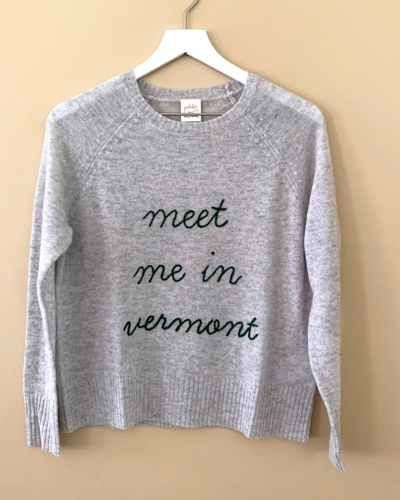 MEET ME IN VERMONT Cashmere Sweater