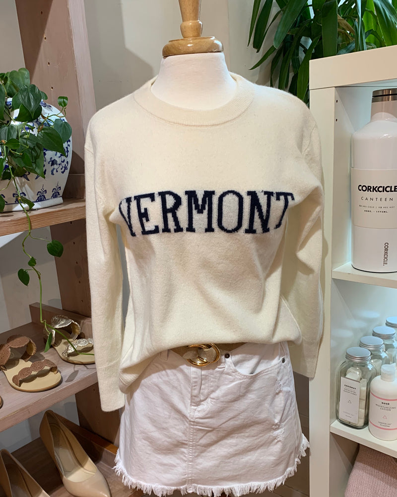 "Monelle Vermont Exclusive ""VERMONT"" Cashmere Sweater"