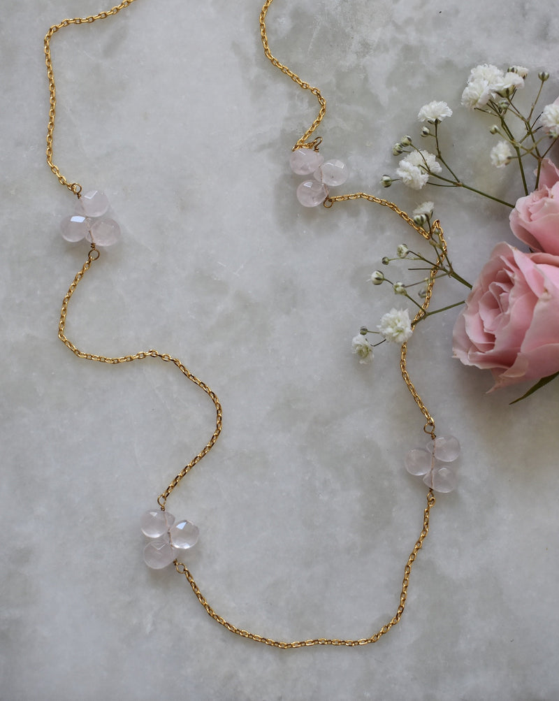 Rose Quartz Layering Necklace
