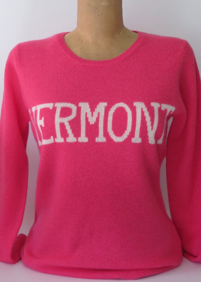 VERMONT cashmere sweater, Pink/Ivory